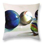 Man With Glass Balls  Throw Pillow