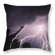 Man With Lightning, Arizona Throw Pillow