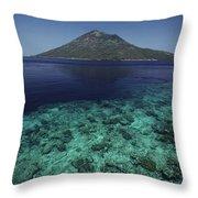 Manado Tua Island Throw Pillow