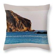 Manana Rabbit Island Quote Throw Pillow