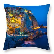 Manarola By Night Throw Pillow