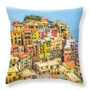Manarola Cinque Terra City Throw Pillow