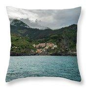 Manarola, Cinque Terre Throw Pillow