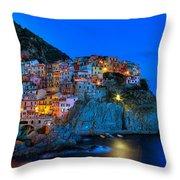 Manarola - Cinque Terre In Widescape Throw Pillow