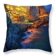 Manarola Lights Throw Pillow