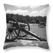 Manassas Battlefield 2 Bw Throw Pillow