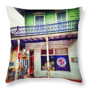 Manass's Grocery From Front Throw Pillow