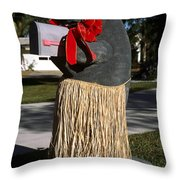 Manatee Mailbox Throw Pillow