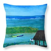 Manatee Refuge Part 2 Throw Pillow