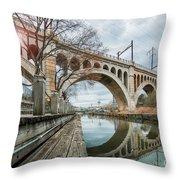 Manayunk Bridge Throw Pillow
