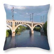 Manayunk Rail Road Bridge Throw Pillow
