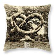 Manayunks Pretzel Park Throw Pillow