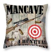 Mancave Hunt Tail Throw Pillow