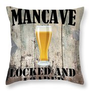 Mancave Locked And Loaded Throw Pillow
