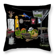 Mancave Throw Pillow