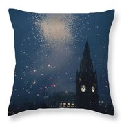 Manchester At Night Throw Pillow