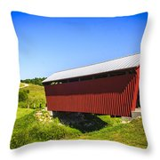 Manchester  Covered Bridge Throw Pillow