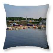 Manchester Harbor Manchester By The Sea Ma Throw Pillow
