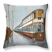 Manchester Piccadilly Tram Throw Pillow