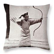 Manchu Archer, 1874 Throw Pillow