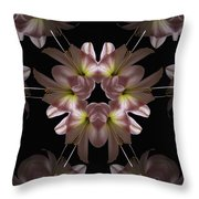 Mandala Amarylis Throw Pillow