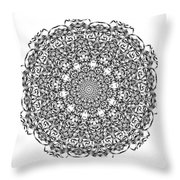 Mandala - Amulet 869 For Those Born In ..... Throw Pillow