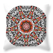 Mandala - Amulet 873 For Those Born In ..... Throw Pillow