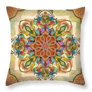 Mandala Birds Throw Pillow
