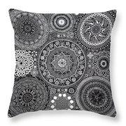 Mandala Bouquet Throw Pillow by Matthew Ridgway