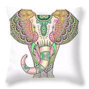 Mandala Elephant Psicodelic Throw Pillow
