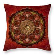 Mandala Flames Sp Throw Pillow by Bedros Awak