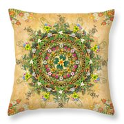Mandala Flora Throw Pillow