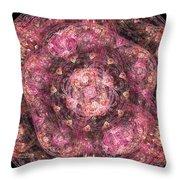 Mandala Introspective Throw Pillow