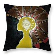 Mandala Mohawk  Throw Pillow