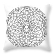 Mandala No 3 Throw Pillow