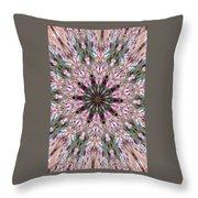 Mandala Of Cherry Blossom Throw Pillow