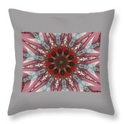 Mandala Of Glass Throw Pillow