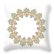 Mandala/photoart Orange Flowers-1 Throw Pillow