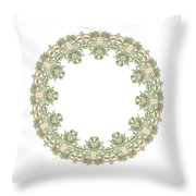 Mandala/photoart Orange Flowers-2 Throw Pillow