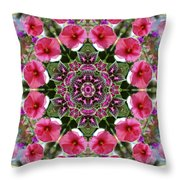 Mandala Pink Patron Throw Pillow