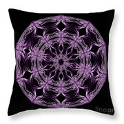 Mandala Purple And Black Throw Pillow