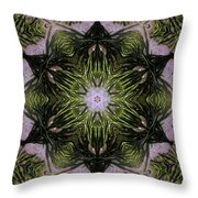 Mandala Sea Sponge Throw Pillow