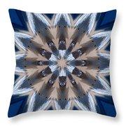 Mandala Sea Star Throw Pillow