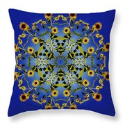 Mandala Sunflower Throw Pillow