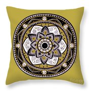 Diva Mandala Throw Pillow