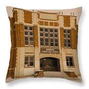Mandan Jr High School 1 Throw Pillow