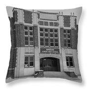 Mandan Jr High School Throw Pillow