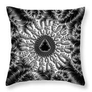 Mandelbrot Fractal Black And White Throw Pillow