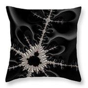 Mandelbrot Set On A Mission Throw Pillow