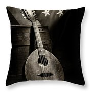 Mandolin America Antique Throw Pillow by Barry C Donovan